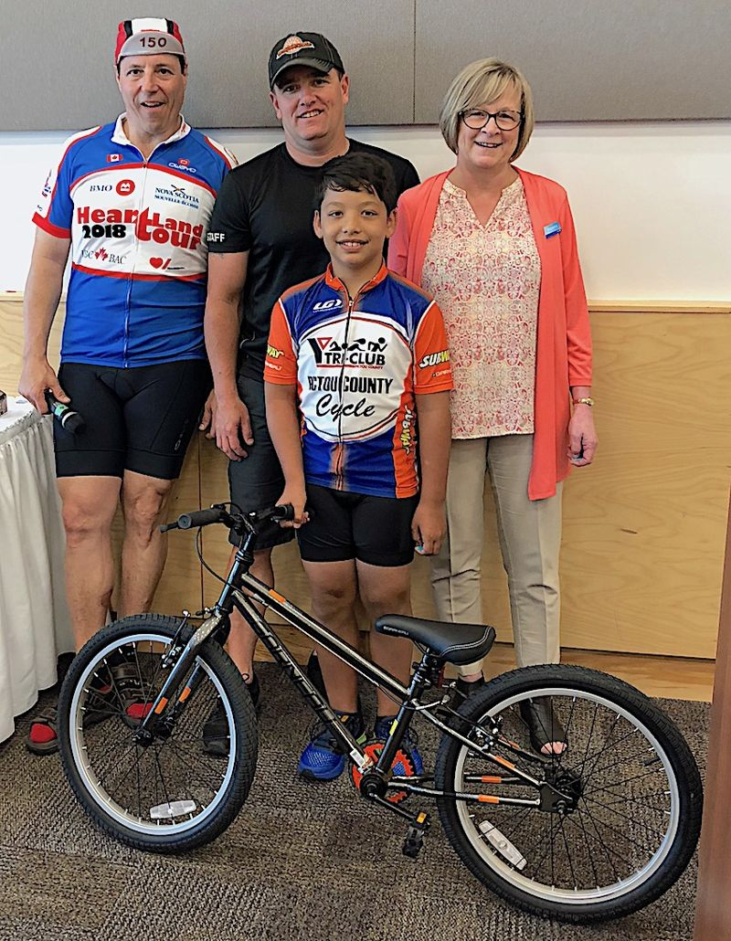 Thanks BMO & Pictou County Cycle for the new bike.