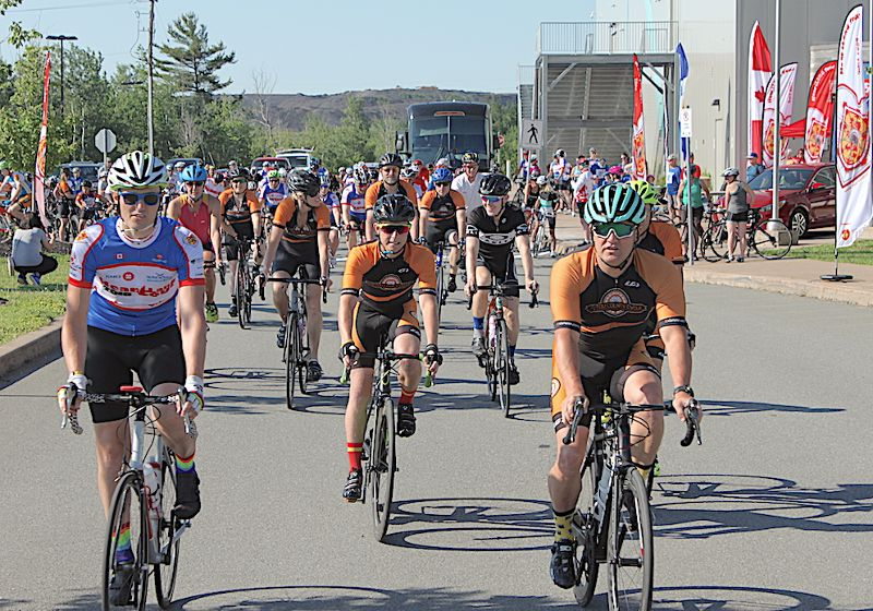 Pictou County Cycle leads out the 50 km ride.